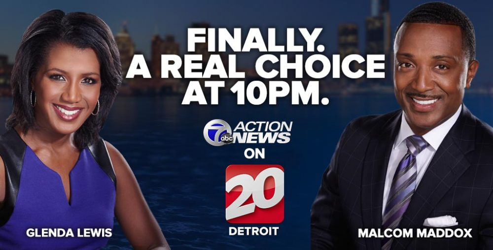 Glenda Lewis and Malcom Maddox ABC channel 7 Action News on 20 Detroit