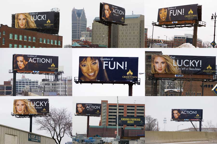 Massive Bill Board Campaign Greek Town Casino Detroit MI