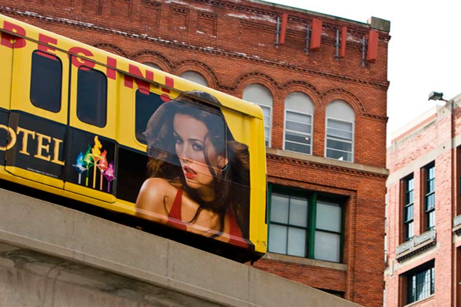 Greek Town Casino Detroit MI People Mover Wrap
